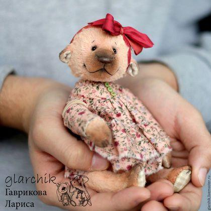 Мишки Тедди ручной работы. Заказать медведица ДиШанТи. glarchik Лариса. Ярмарка Мастеров. Мишка, авторская работа, глаза стеклянные