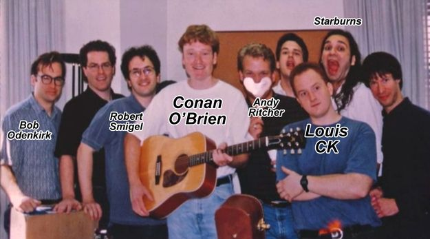 This Old Photo Of Young Conan O'Brien, Louis CK, And Bob Odenkirk Is Amazing