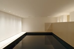 Minimal indoor pool inside the Private House in Chelsea, London (2009) by John Pawson _
