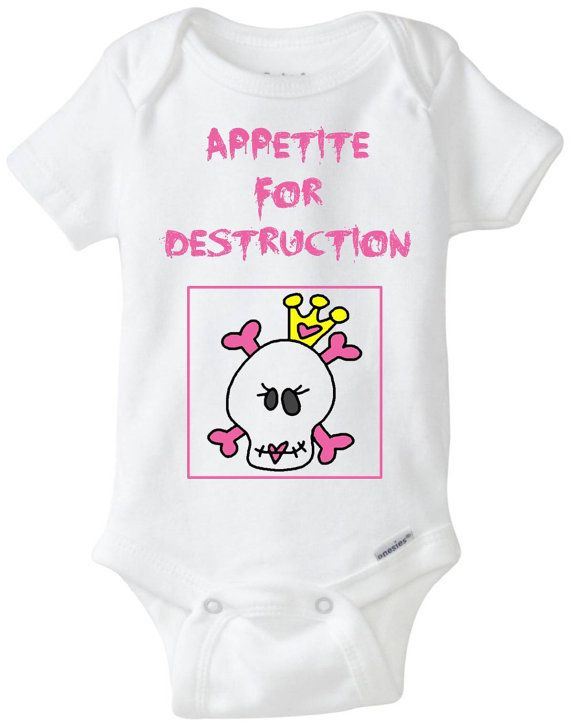 353 best gifts for a new baby images on pinterest babies stuff baby girl pink goth skull tiara halloween funny onesie appetite for destruction new baby negle Choice Image