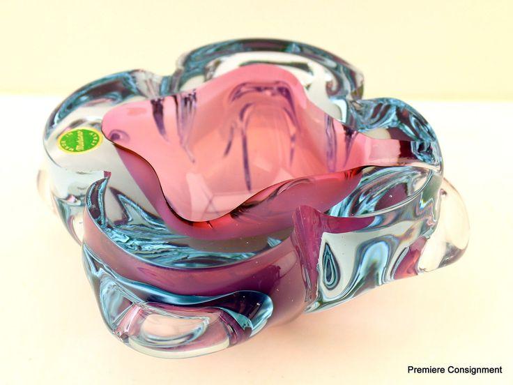 Vintage Beautiful Authentic Murano Glass Bowl/Ashtray 2 • EUR 68,32