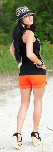 Big Star Tangerine Tide Shorts - Dusty Diamonds Boutique