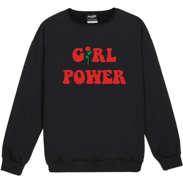 girl power TRUI JUMPER womens dames leuk tumblr hipster fashion grunge... (385 MXN) ❤ liked on Polyvore featuring tops, grunge tops, vintage tops and hipster tops