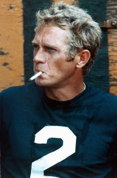 UNDRCRWN Style Influence: Steve McQueen in a jersey numbered tee.