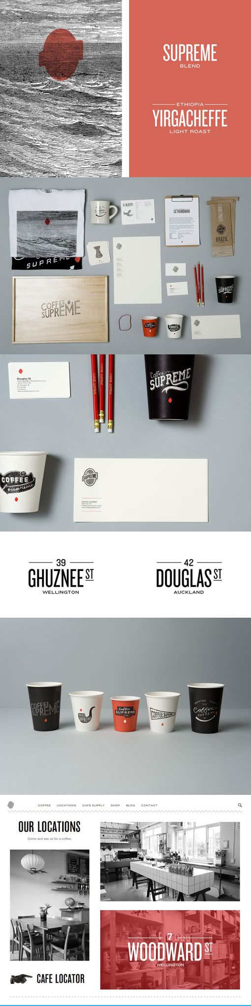 Coffee Supreme Re-Brand | Designer: Hardhat Design the whole #packaging #branding #marketing story PD