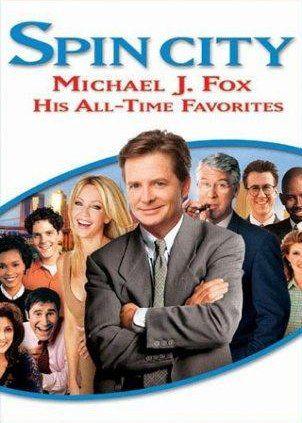 Michael J. Fox, Heather Locklear, Michael Boatman, Connie Britton, Victoria Dillard and Richard Kind in Spin City (1996)