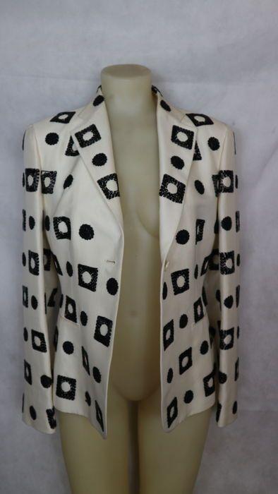 Kiton - blazer con decori  Made in italy