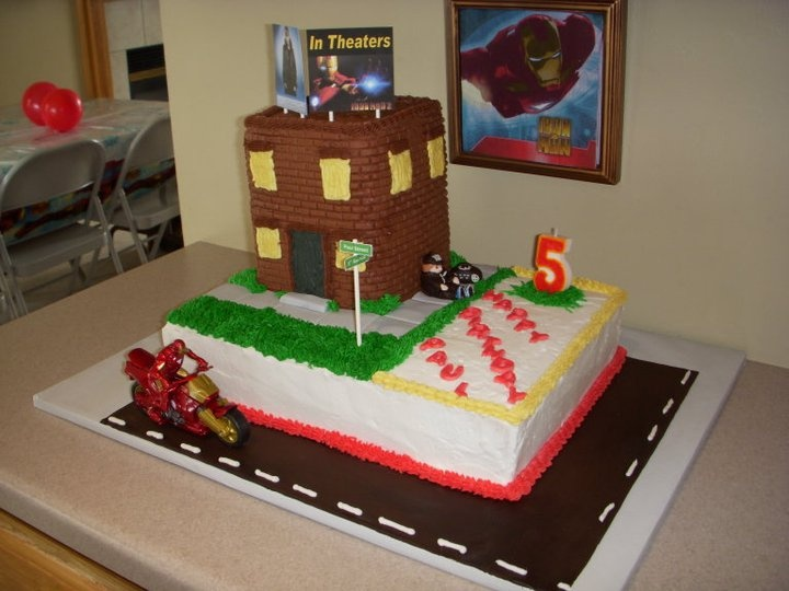 Iron Man & Justin Bieber Birthday Cake