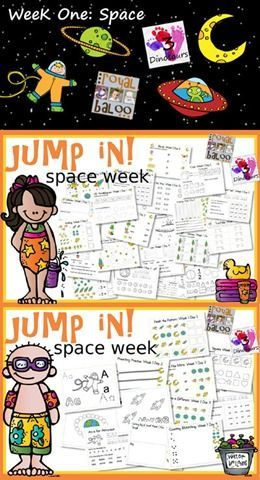 FREE Summer Program for Tot, preschool, kindergarten, first grade, and second grade!  Jump In! To Learning Week 1 - Space Theme