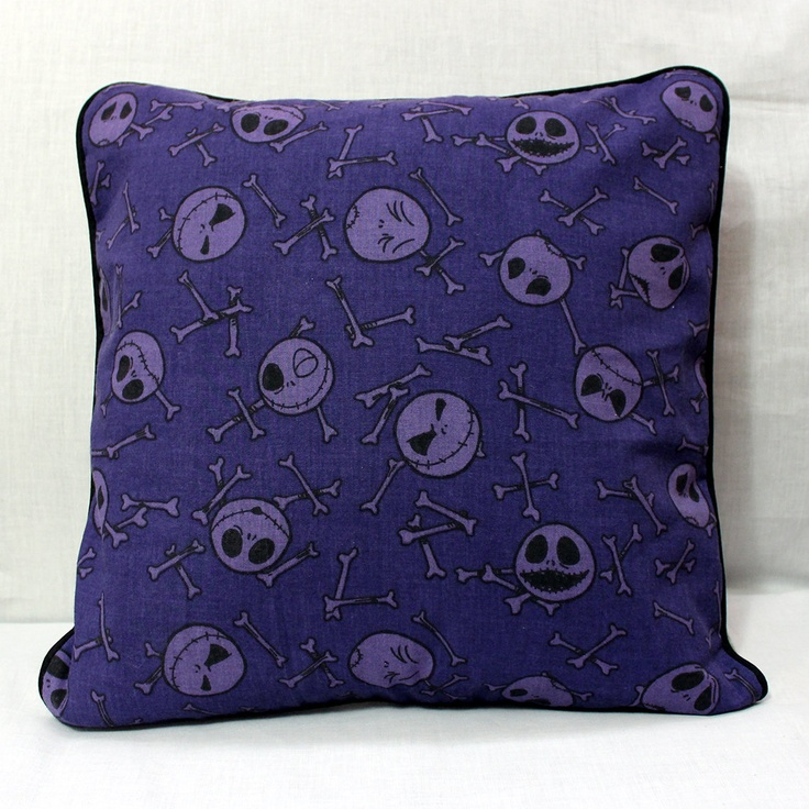 Nightmare Before Christmas Jack Skellington Pillow Cover by XO Skeleton Creations. $24.99, via Etsy.