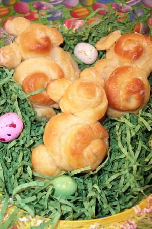 Easter Bunny Bread #cooking