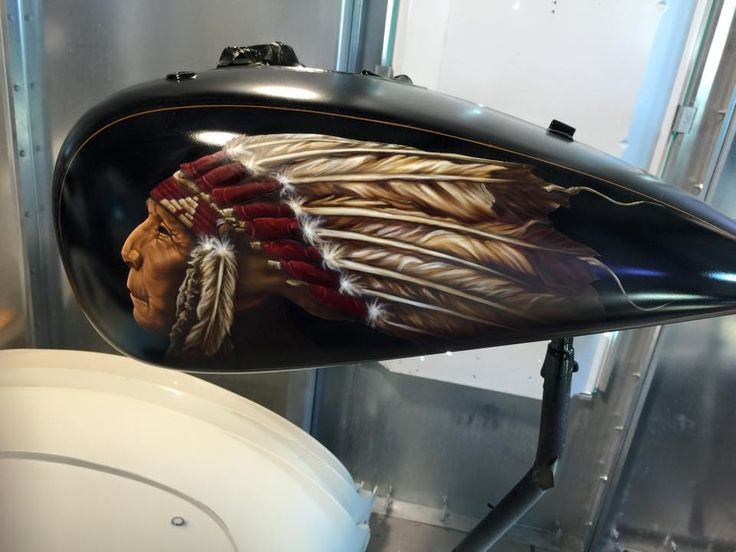 Indian Motorcycle Gas Tank Custom Paint INDIAN