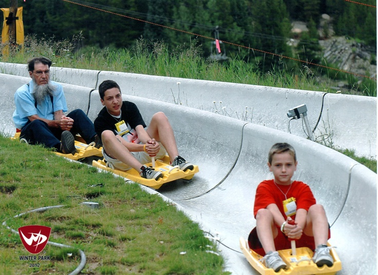The boys being chased by the Amish SWAT Team on the Alpine Slide in CO. :): Amish Swat, Swat Team