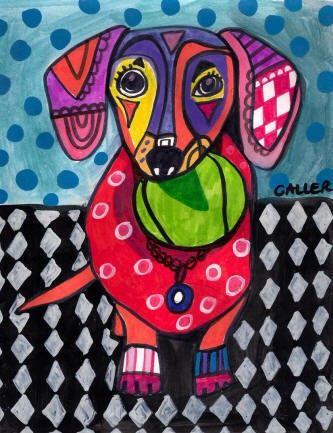 11x14 Dachshund ART Dog doxie Art Print Poster by HeatherGallerArt, $24.00 I WANT THIS!