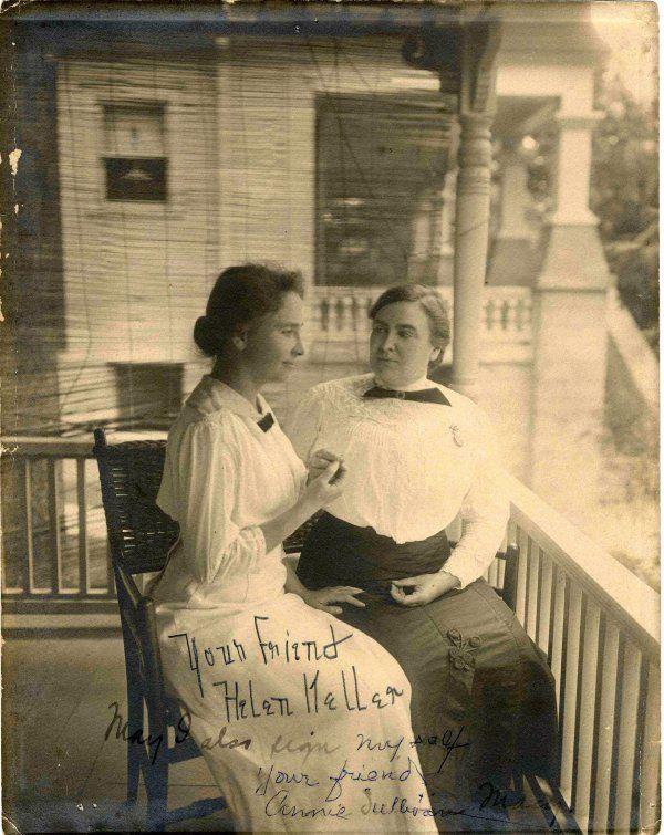 Helen Keller Anne Sullivan Signed Photo Autograph