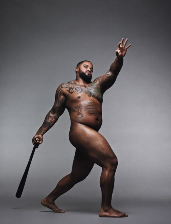 """Prince Fielder - age 30; who he is: first baseman, Texas Rangers; body stats: 5'11"""", 275 lbs - photograph by Alexel Hay for ESPN The Magazine"""