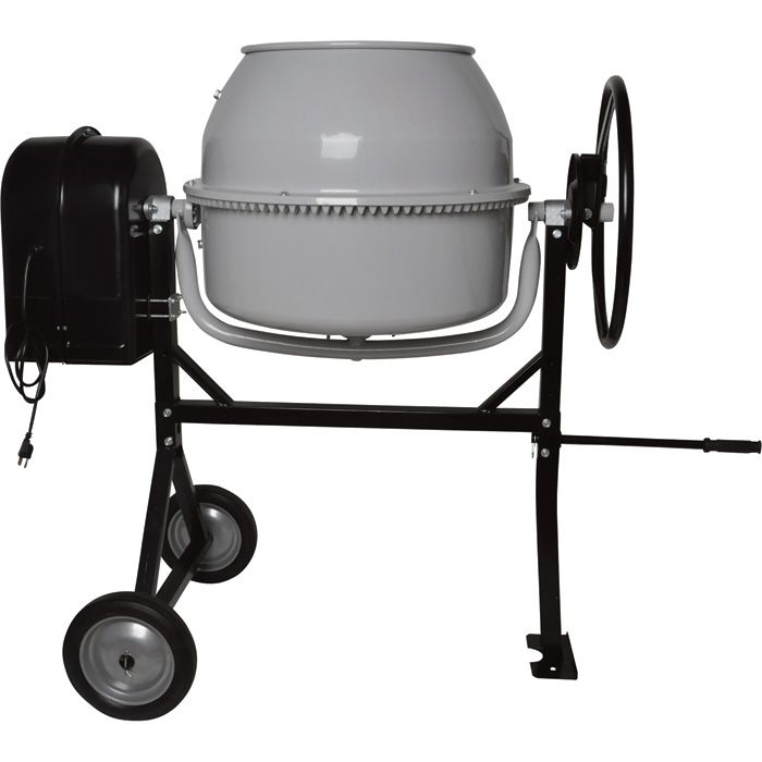 Klutch Portable Electric Cement Mixer —  4.1 Cubic Ft. Drum | Cement Mixers| Northern Tool + Equipment