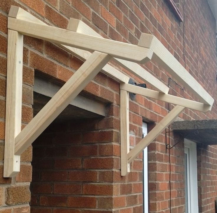 Timber Front Door Canopy Porch Hand Made Porch 120cm