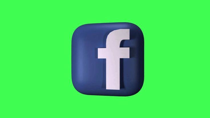 Free Green Screen - 3D Facebook Logo Spinning Loop