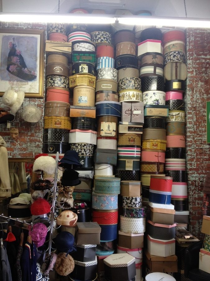 Vintage Hat  Box Wall Shopping