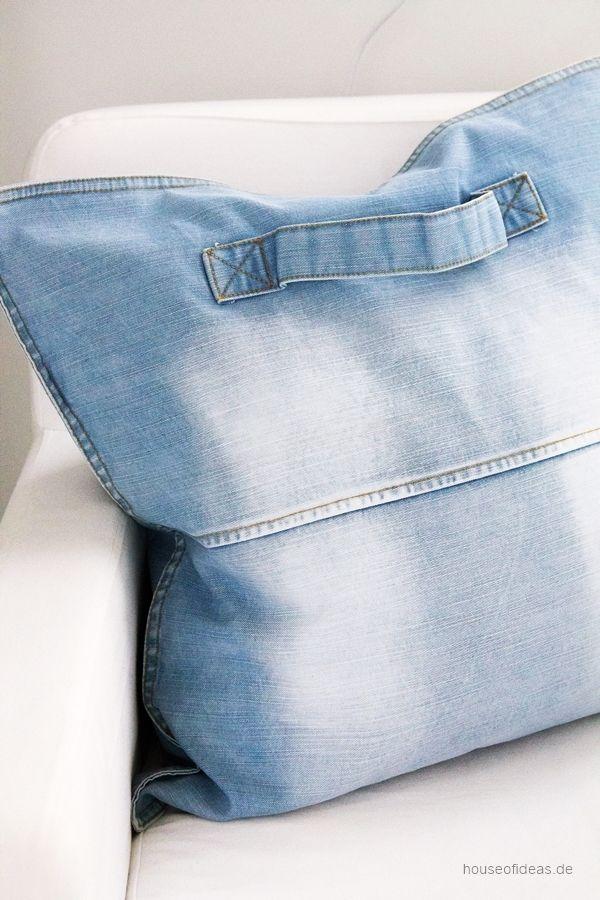 Denim Kissen blue washed 50x50 cm