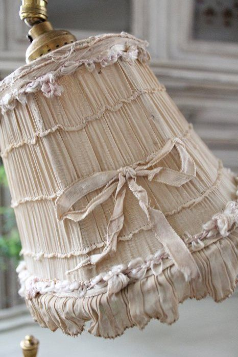This lampshade is so shabby and lovely