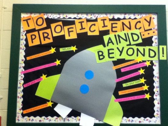 Space Themed Back To School Bulletin Board Idea