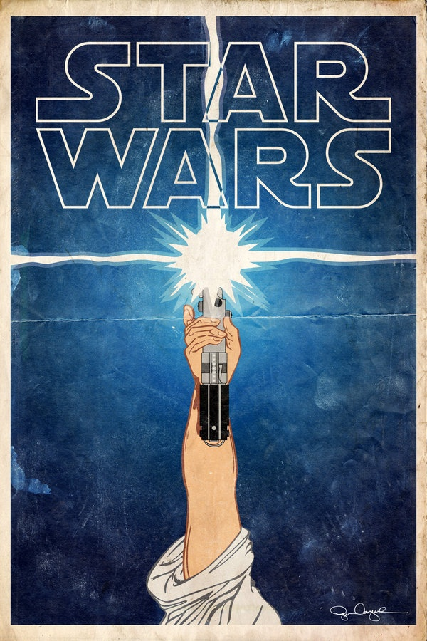 Retro Star Wars Poster by Ryan Cosgrove: Starwars Darthvad, Starwars Posters, Starwars Lightsaber, Starwars Art, Stars War Art, Deviantart Starwars, Art Movie Tv Pop, Stars War Posters, Movie Art