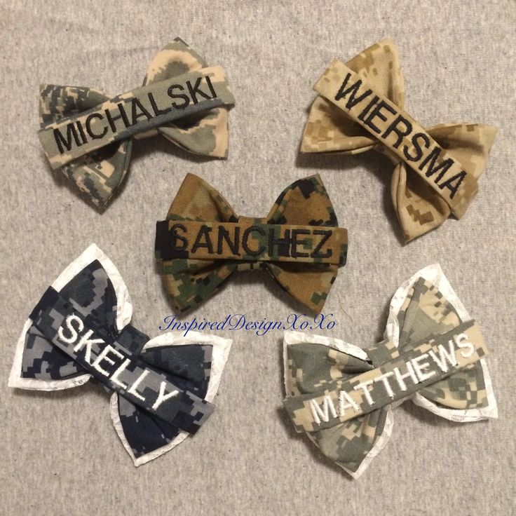 Name Tape Bows- Military Bows- Marine Bow- Army Bow- Airforce Bow- Navy Bow by InspiredDesignXoXo on Etsy https://www.etsy.com/listing/237342804/name-tape-bows-military-bows-marine-bow