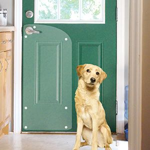 Protect Doors From Dogs That Scratch When They Want To Go Out. Thick Clear Vinyl & Door Dog Protector \u0026 Dog Door Screen Pezcame.Com
