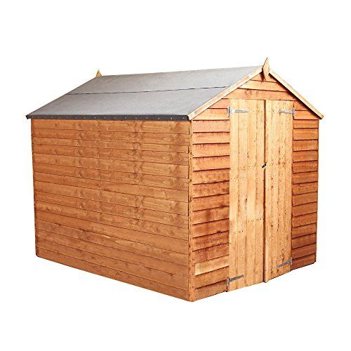 8ft x 6ft Overlap Apex Wooden Windowless Storage Shed – Brand New 8×6 Wood Sheds