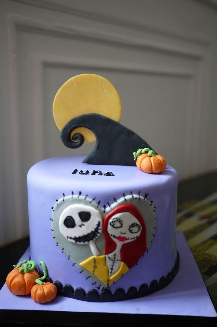 Jack & Sally Cake  Jack & Sally Cake  #jack-skellington #nightmare-before-christmas-jack-skellington #nightmarebeforechristmas #cakecentral
