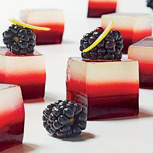 Lemony Blackberry-Vodka Gelées via Cooking Light Mag