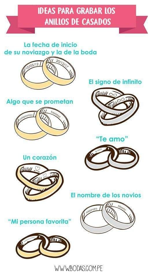 Ideas para grabar los anillos de casados.  💍 1