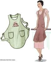 """#2802 1928 One-yard Bias Cut """"Flapper"""" Apron...one of my favorite patterns. I have made 6 of these."""