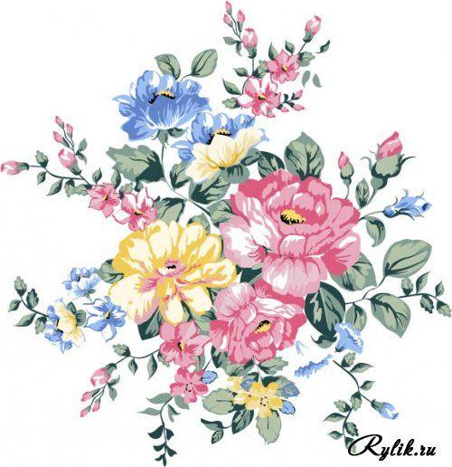 Винтажные розы вектор. Vector Pink Roses Collection #7