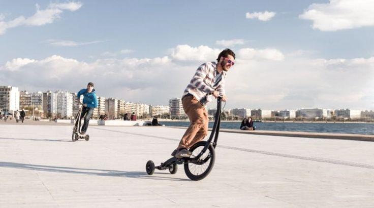 Non c'è la sella e si guida come uno skateboard, spostando il peso del corpo per curvare. Si chiama Halfbike perché della bicicletta mantiene il concept anche se il telaio è ''destrutturato''. Il progetto, presentato su Kickstarter dalla startup bulgara Kolelinia, ricorda il Segway e propone un'alternativa per muoversi agilmente nel traffico