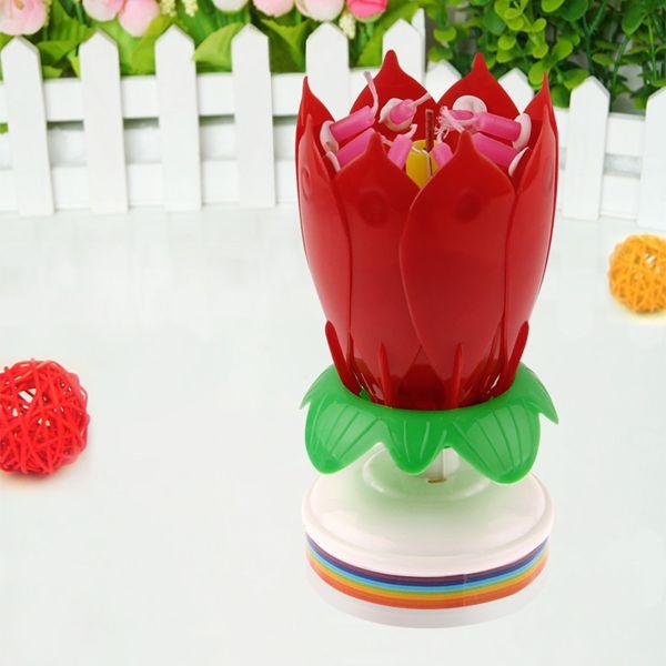 Magic Blossom Lotus Birthday Candle