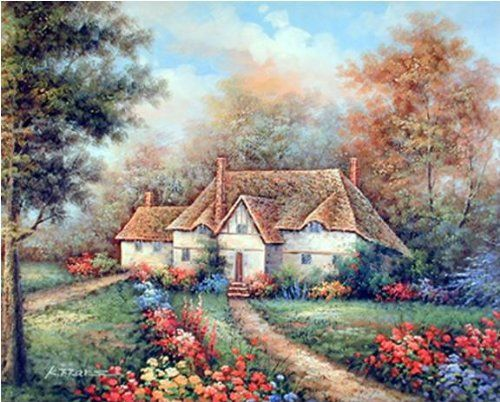 Absolutely perfect! Add this landscape art print wall poster to your beautiful home. Your living room or bed room no matter wherever you hang it will surely brighten up with the presence of this wonderful wall poster. This rustic country cottage scenic landscape poster will make it a perfect addition to your home. Its high quality paper and high degree of color accuracy makes it durable.
