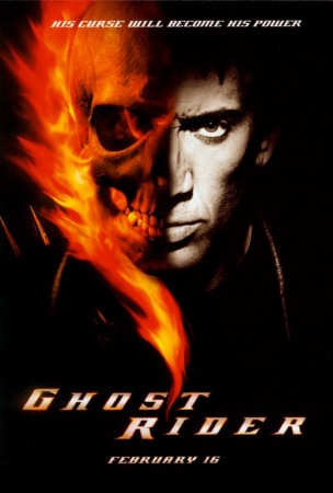 Ghost Rider 2007 / Ghost Rider (2007) Stunt motorcyclist Johnny Blaze gives up his soul to become a hellblazing vigilante, to fight against power hungry Blackheart, the devil's son. Nicolas Cage, Eva Mendes, Sam Elliott