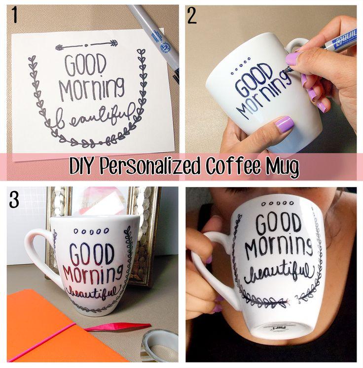 DIY Coffee Mug! Definitely pinning this and saving it for later! Make it inspiring! #DIY
