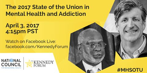Tomorrow, join Patrick J. Kennedy and Dr. David Satcher for a conversation about giving children the best chance to succeed. Watch the livestream here at 4:15pm PT. #MHSOTU #NATCON17