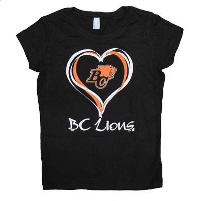 Maddie would like this.    BC Lions Youth Princess T-Shirt  $19.95