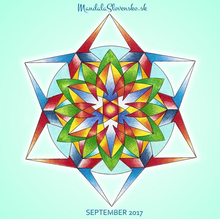 Mandala mesiaca september. Afirmácia:Mojim zámerom je byť sám/a sebou. #mandala #mandalaslovensko #mandalaslovakia #mandalaseptember #september #healingart #sacredgeometry #newearth #art #handmade #affirmations