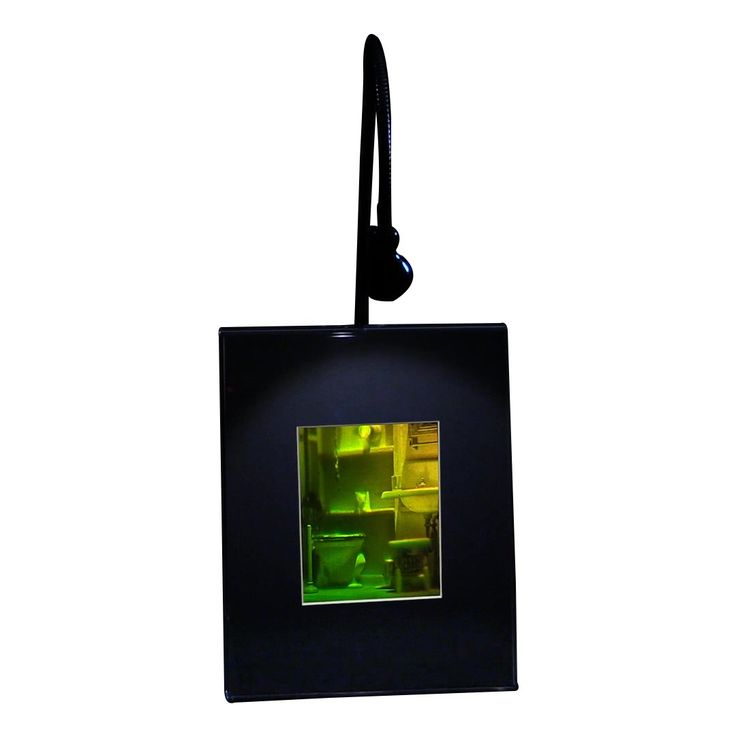 3D Bathroom Hologram Picture (LIGHTED DESK STAND), Collectible REFLECTION SILVER-HALIDE Film