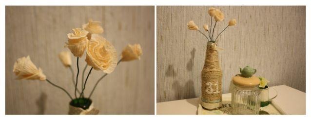 Flores decorativas de papel crepé. Para saber cómo se hacen entra en mi página web: samicablog.wordpress.com