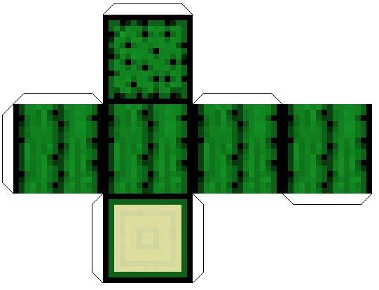 Minecraft из бумаги схемы и