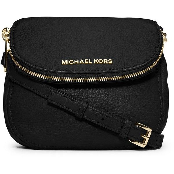 MICHAEL MICHAEL KORS Bedford Small Leather Crossbody Bag ($178) ? liked on  Polyvore featuring