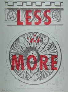 Less Is More | Sanders of Oxford