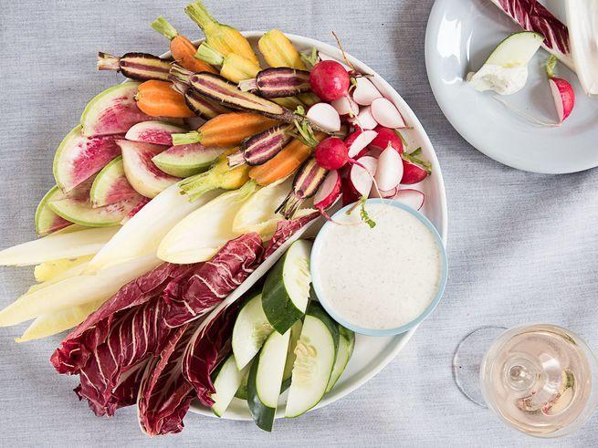 Herbes de Provence, the quintessential Provençal seasoning combo of thyme, rosemary, marjoram, and oregano, enhances this lemony crème fraîche dip.